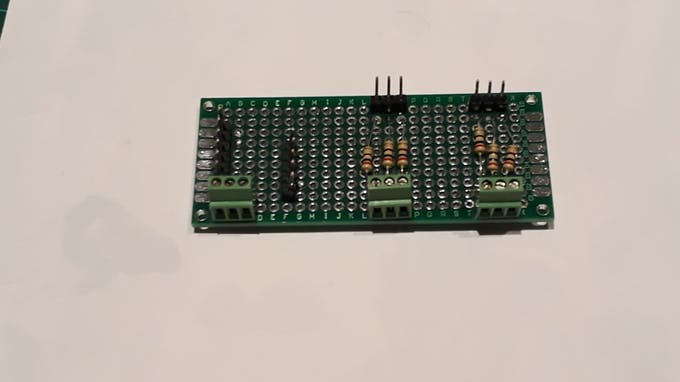 Upper side of the circuit board