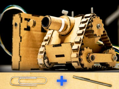 Make RC Tank with Cardboard, Pens and Paperclips