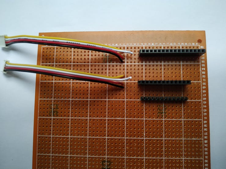 Soldering grove cable with the pcb