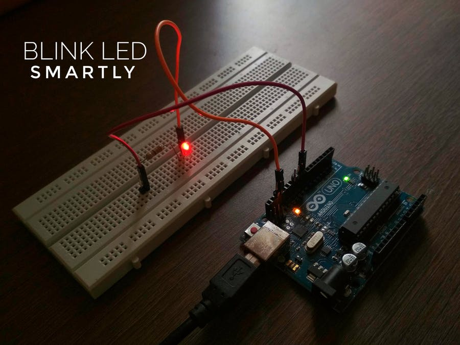 Smart Led Blink Led Using Arduino Uno Arduino Project Hub