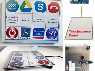 Arduino USB Macro Keyboard TouchPad fro Touchscreen Panel