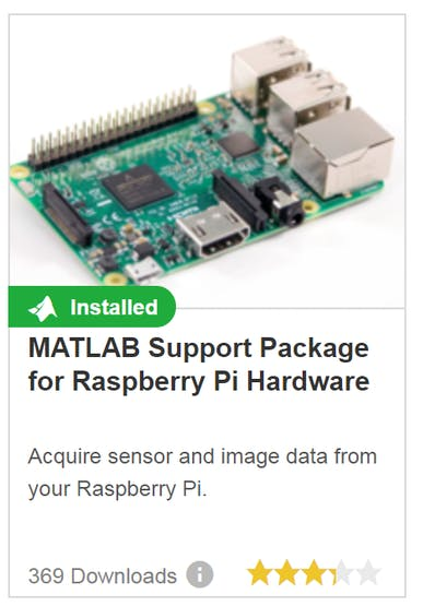 You will need to install the MATLAB support package for rpi to use the lunaFlowApp. We recommend going through the setup procedure.