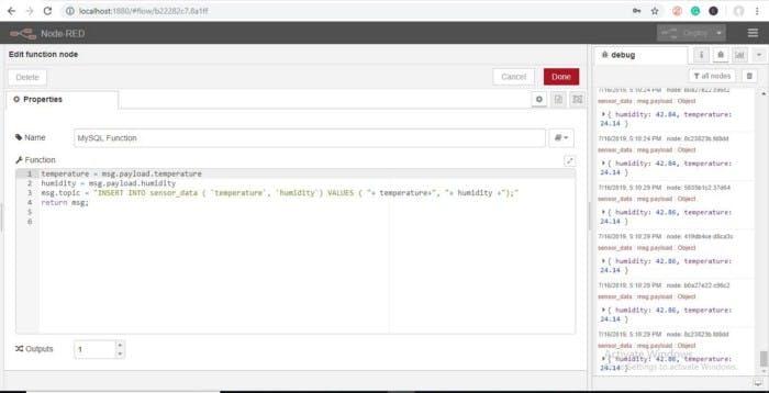 Node-RED to MySQL - Hackster io