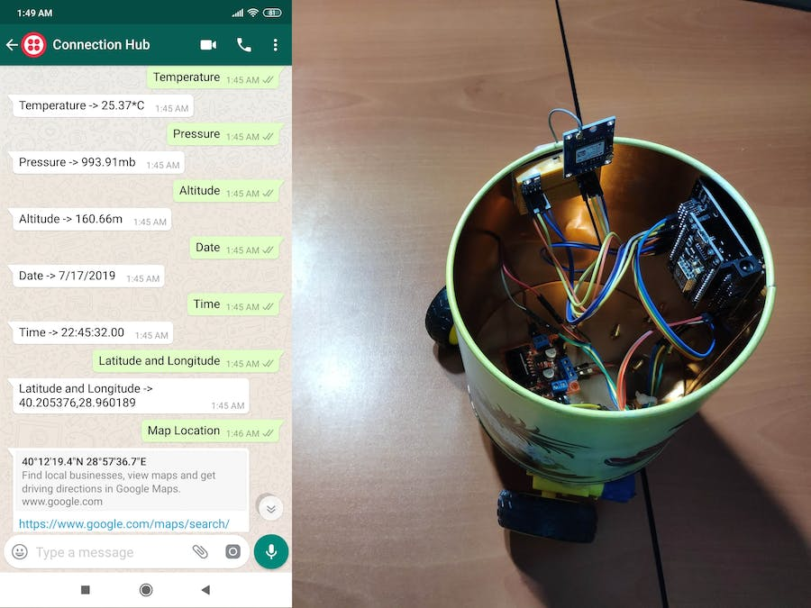 WhatsApp Mapping and Weather Forecast Chat Bot
