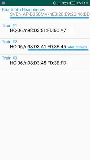 Choose the loco by MAC address