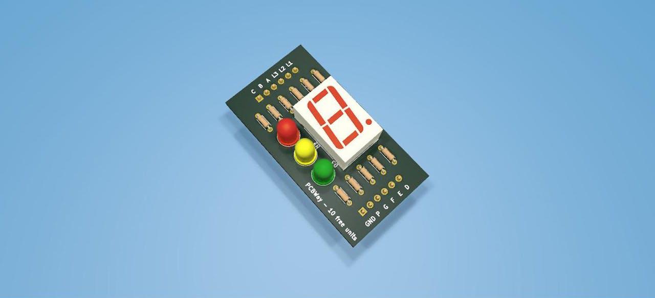 Figure 1 - Temporized Traffic Light PCB.