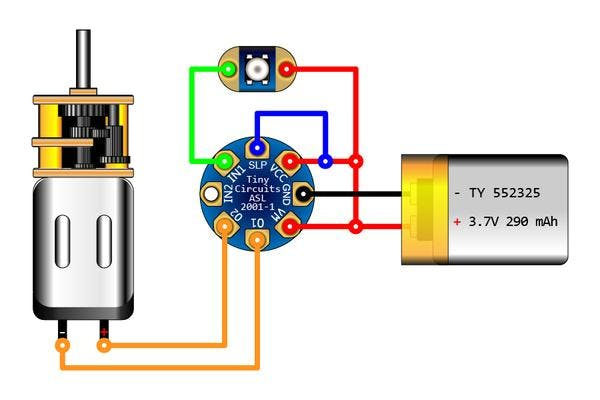 TinyLily Motor Controller Circuit Connections