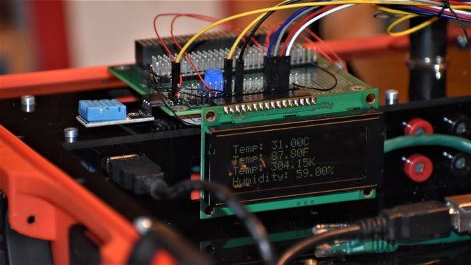 20x4 Character LCD Connected to Modulus