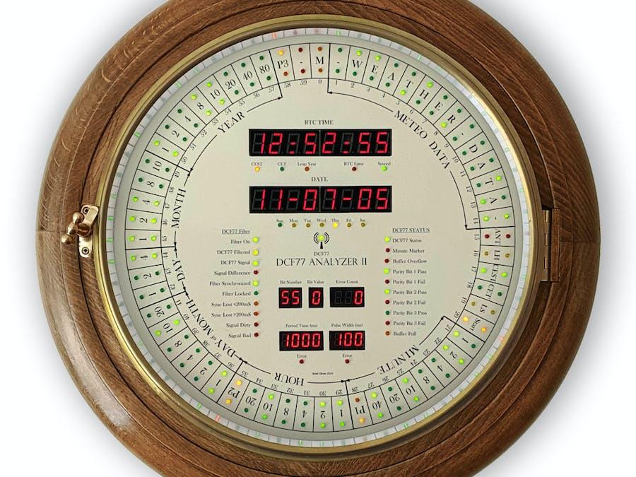 Arduino DCF77 Analyzer Clock MK2