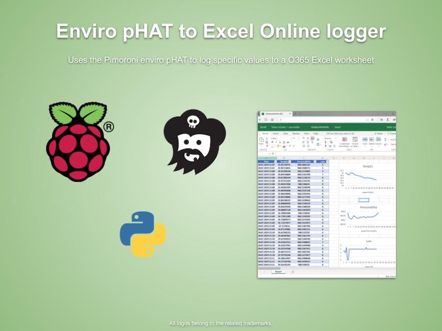 Pimoroni Enviro pHAT to O365 Excel Logger - Hackster io