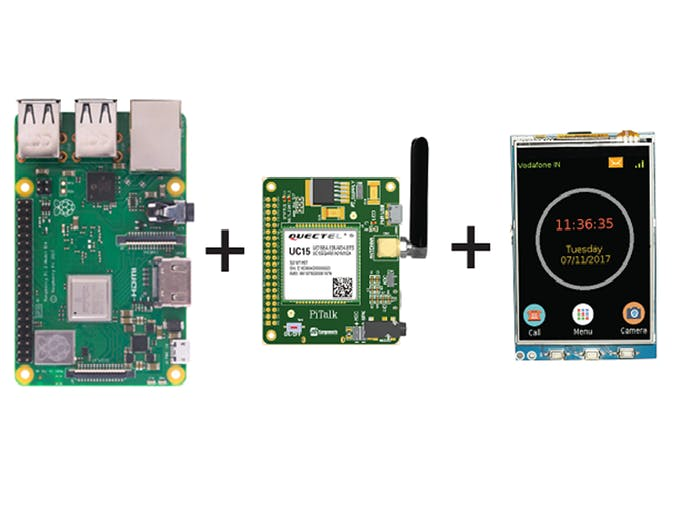 PiTalk - Raspberry Pi 3G Module Smartphone LCD Kit