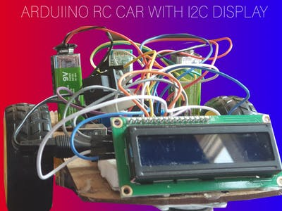 Arduino RC Car with I2C Display!