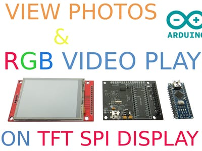 Photos and RGB Video on TFT SPI Display