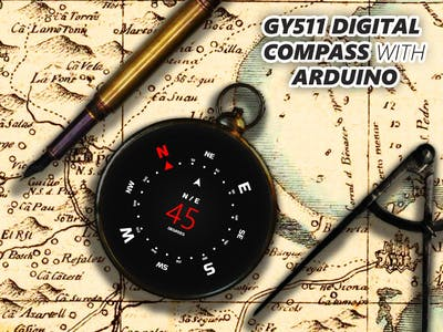 Make a Digital Compass w/ GY-511 Accelerometer/Magnetometer