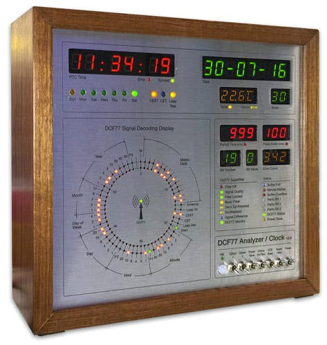 My clock is based on Eric de Ruiter's DCF77 Analyzer Clock