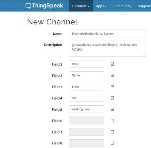 Arduino Fingerprint Attendance System w/ Cloud Data Storage
