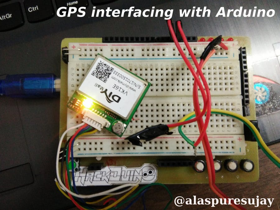 Connecting VK16E GPS with Arduino UNO