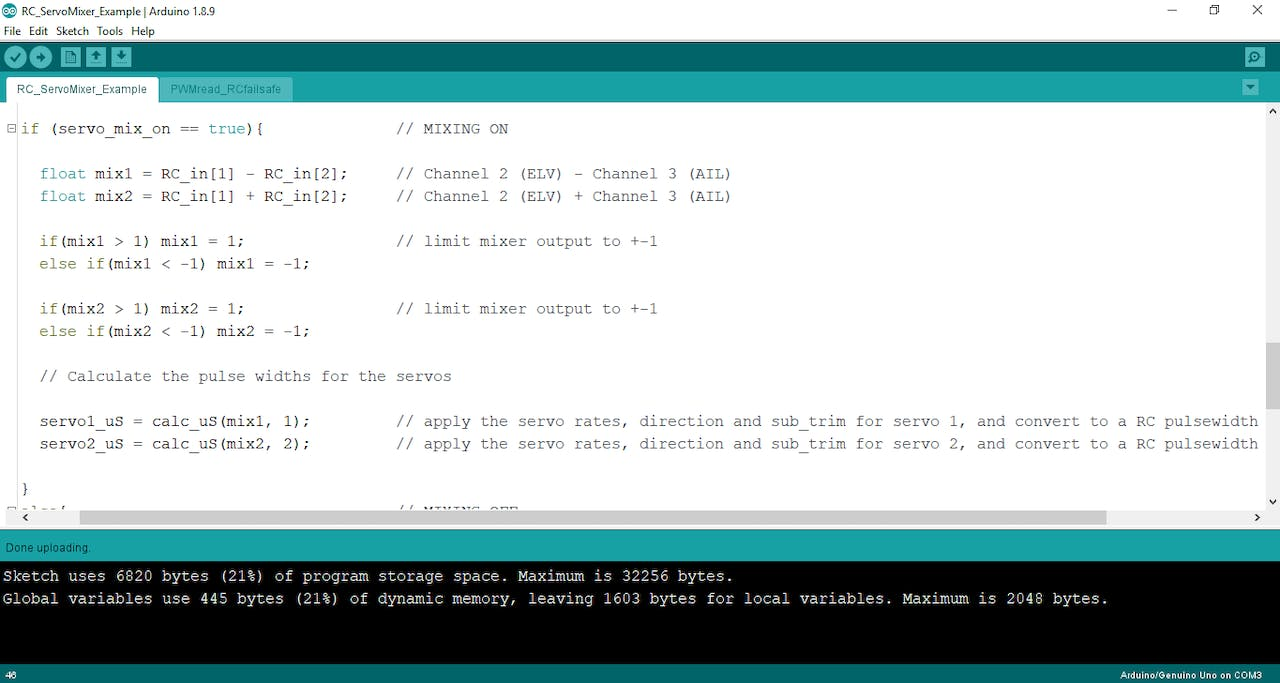 Read PWM, Decode RC Receiver Input, and Apply Fail-Safe
