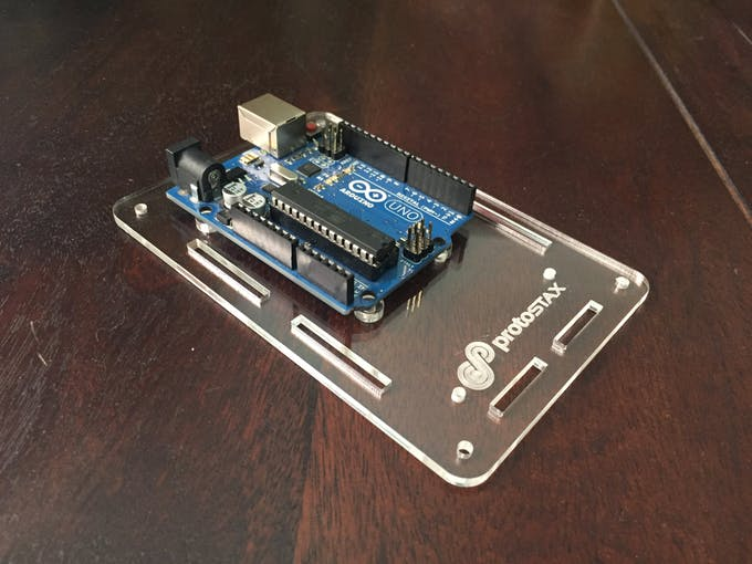 3. Place Arduino on PCB Mounting Spacers