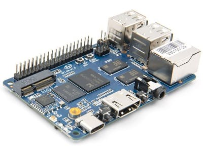 Banana Pi BPI-M4 with RTD1395 Quad-Core CPU, Arm Cortex-A53