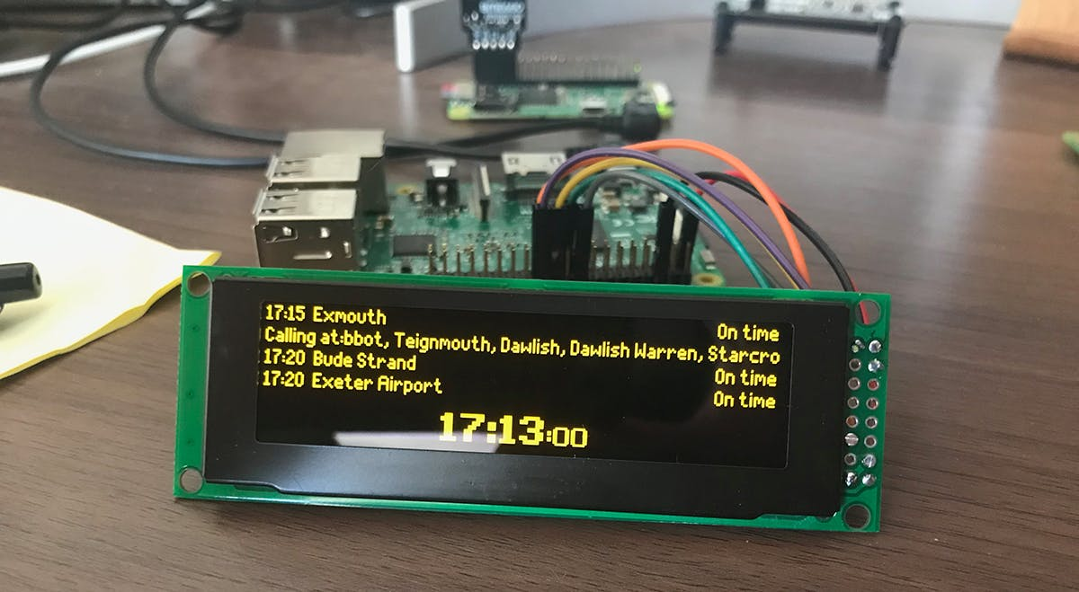 Raspberry Pi Powered Live Train Station Desktop Sign Hackster Io