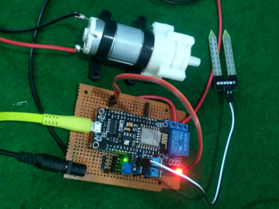 Automated Plant Watering System Based on Internet of Things