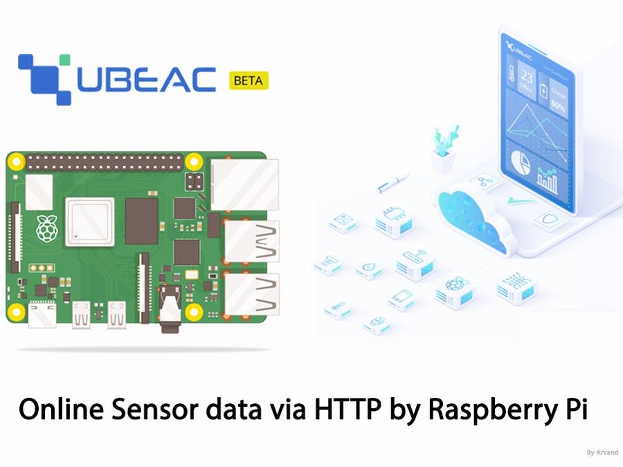 Online Sensor Data via HTTP by Raspberry Pi and uBeac