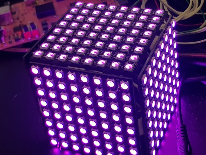 PYNQ Controlled NeoPixel LED Cube