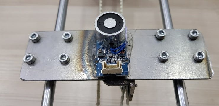 Electromagnet Mounting on the XY table