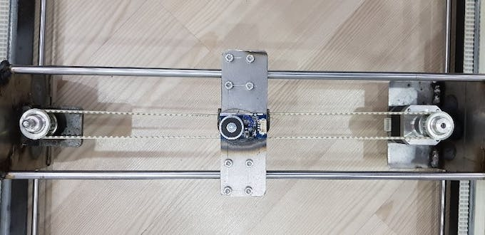 Belt and shaft connections Y Axis