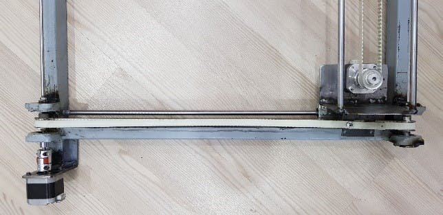 Belt and shaft connections X Axis