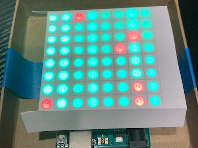 8x8 LED Matrix Random Number Display
