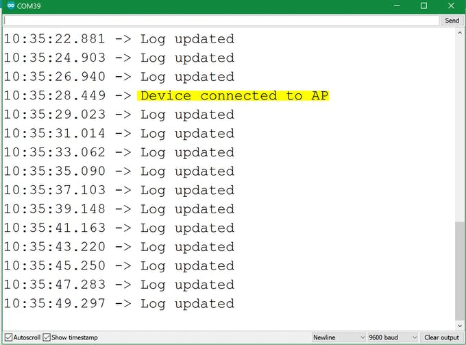 Expose Your IoT Bundle Kit Info Trough a WiFi Web Server