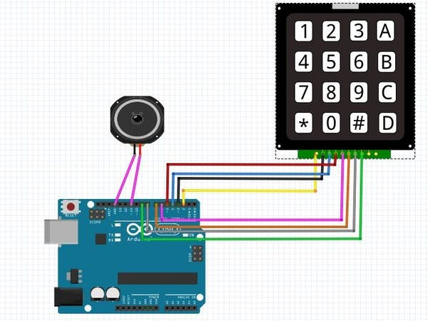 Arduino Piano Using 4x4 Keypad - Arduino Project Hub