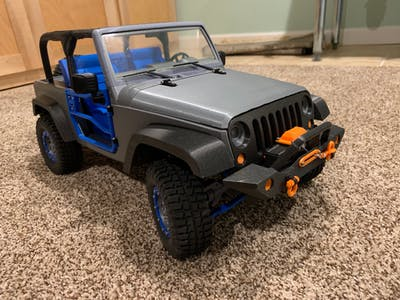 Wemos - Blynk - iPhone Remote-Controlled 3D-Printed Jeep
