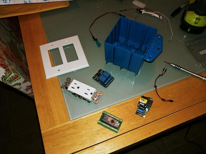 The collection of parts.  minus the LCD display and the humidity sensor