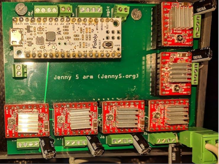 Jenny 5 arm electronics
