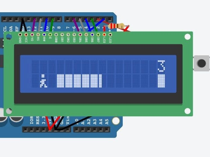 Simple LCD Arduino Game