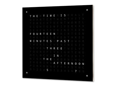 Word Clock with Minute Resolution of Time in Words