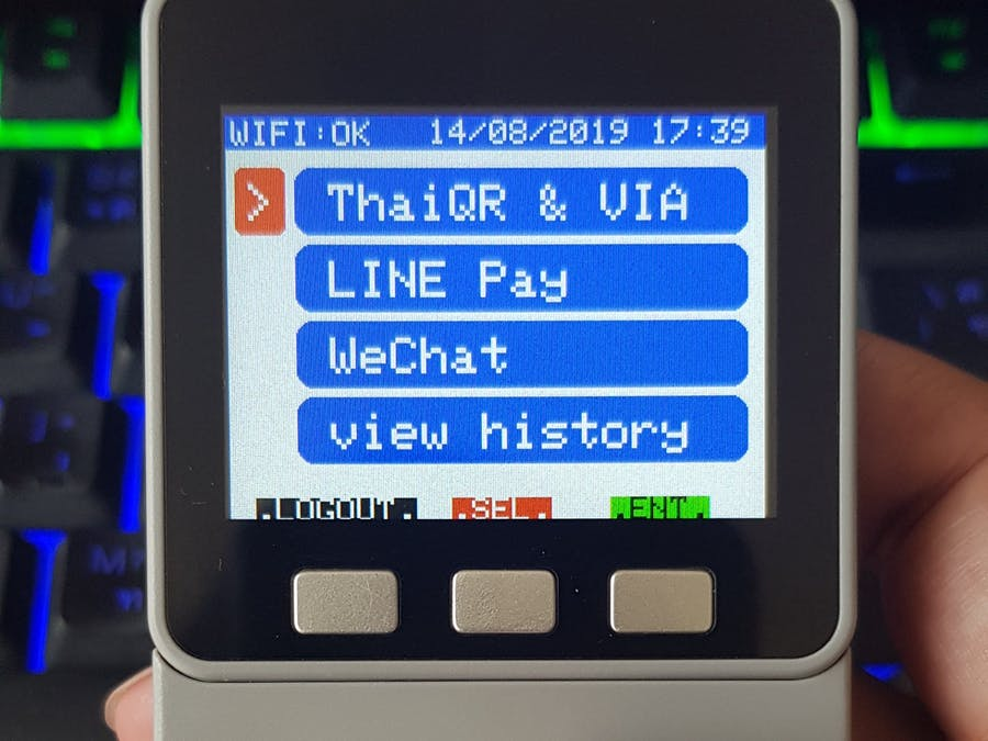 M5Stack Calculator Face as ThaiQR Code EDC Payment Device