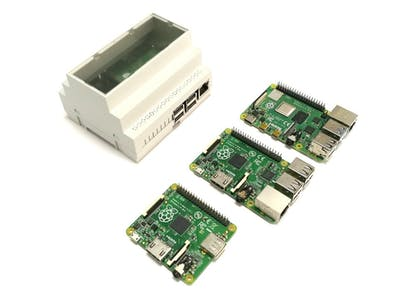 DIN Rail Mount for Raspberry Pi 3B and 4B