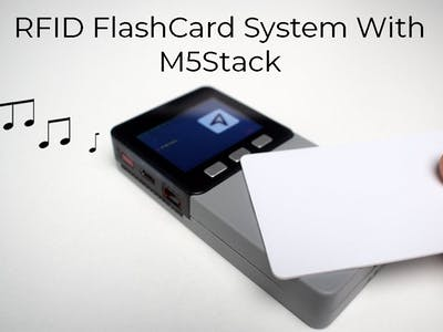M5Stack RFID Face Wav Playing Flashcard Program