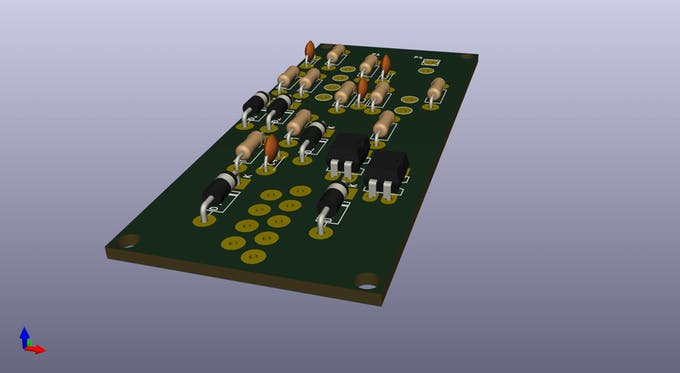 One-touch module PCB - 3D rendering