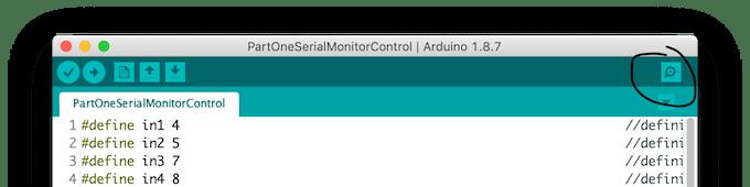 Serial Monitor Button