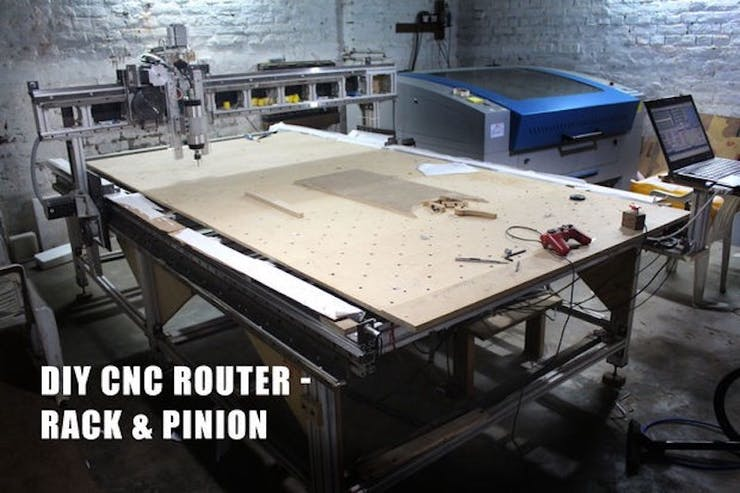 Build Your Own 5 X10 Cnc Router From The Frame Up Hackster Io