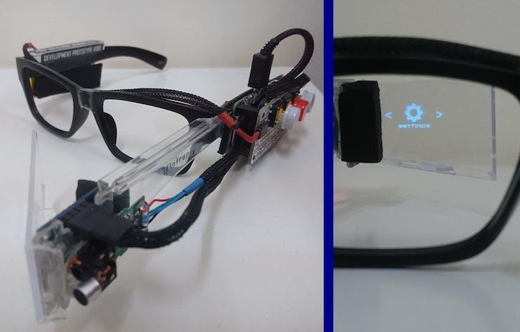 Diy Smart Glasses Built With A Raspberry Pi Zero W Hackster Io