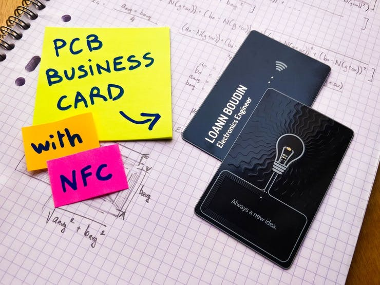 An Nfc Equipped Pcb Business Card
