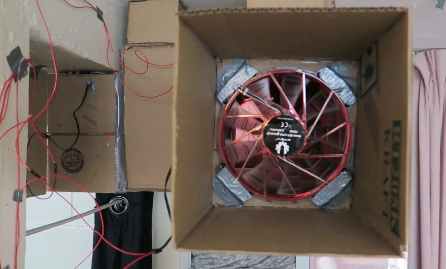 Diy Air Conditioner Built From Cardboard Hackster Io