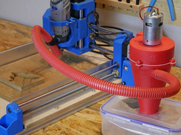 3D-Printed Dust Collector for Dremel CNC