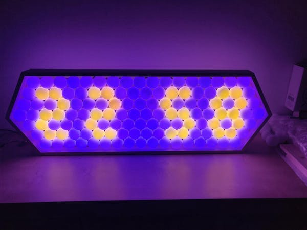 Iridescent LED Clock Made with Ping Pong Balls